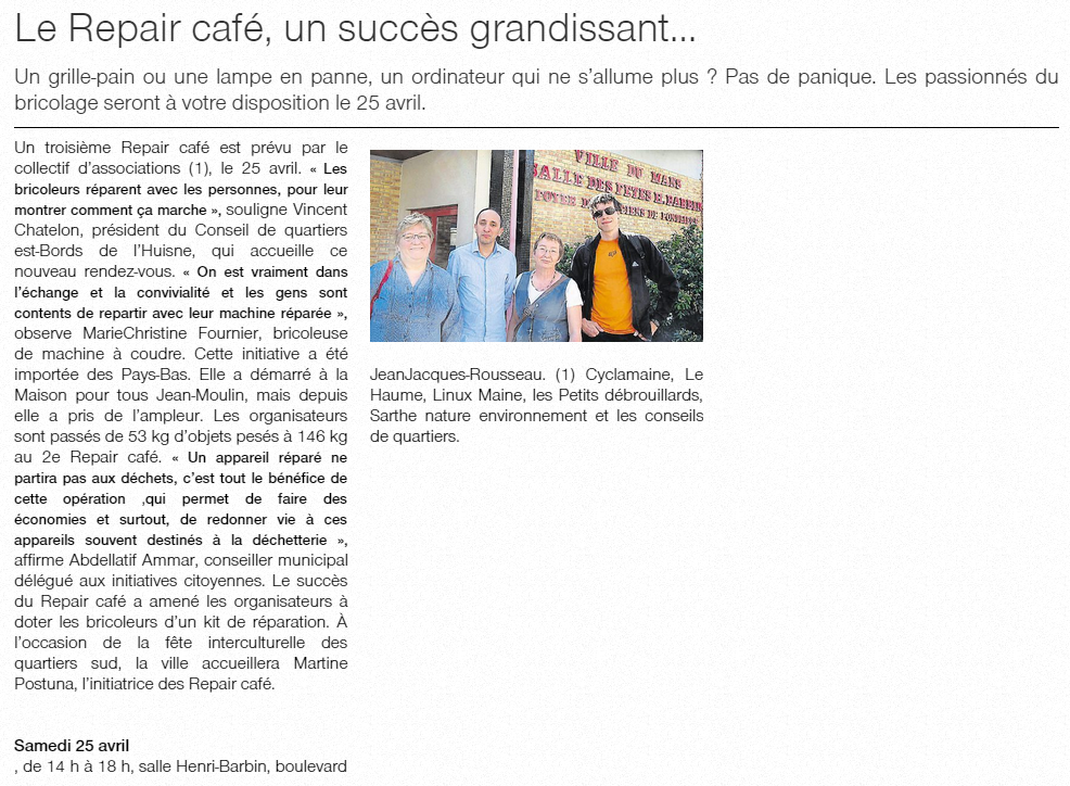 Repair Cafe Le Plus Proche De Saint Laurent Du Var
